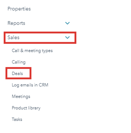 hubspot-settings-drop-down